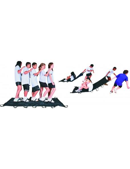 Jeu de la couverture coopérative, matériel de jeu coopératif à tirer pour enfants de spordas
