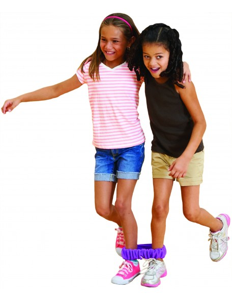 Bandes de course en duo pour les jeux de mouvement des enfants