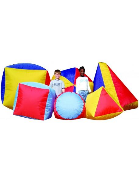 Formes gonflables géantes Spordas pour jeux coopératifs des enfants, carré, triangle ou rond à acheter pas cher