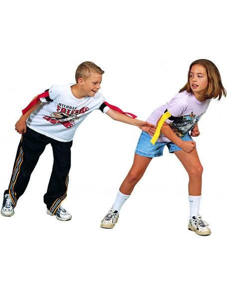 Tag rip flag, jeu de flag ceintures pour enfant Spordas. Tag rip flag pour jeux sportifs collectifs