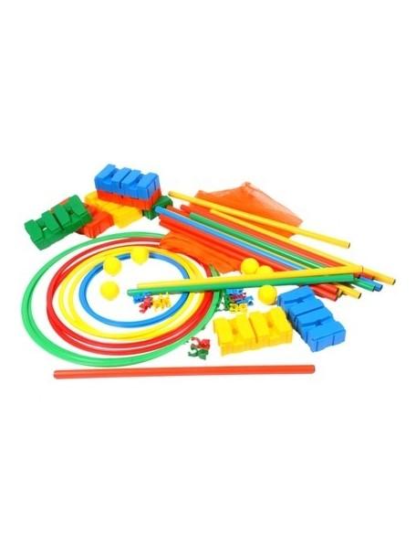 Kit de motricité multijeux pour les sports scolaires de enfants à acheter pas cher avec cones, cerceaux, jalons...