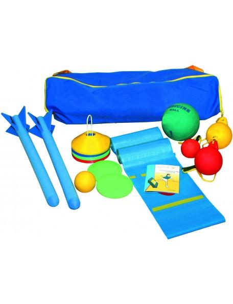 Kit lancer athlétisme pour les enfants. Matériel pédagogique scolaire pour jeux de lancers d'athlétisme pas cher