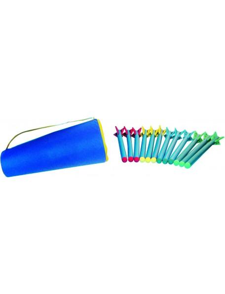 Kit de javelots en mousse d'athlétisme scolaire. Matériel d'athlétisme pédagogique pour les enfants