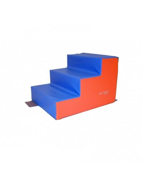 Escalier 3 marches mousse Sarneige maternelle à acheter pas cher
