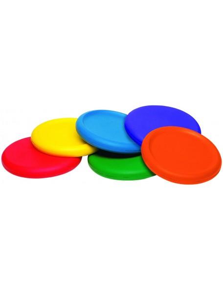 Lot de 6 disques volants en mousse pour lancer scolaire des enfants. 6 disques en mousse multicolores de qualité et pas cher