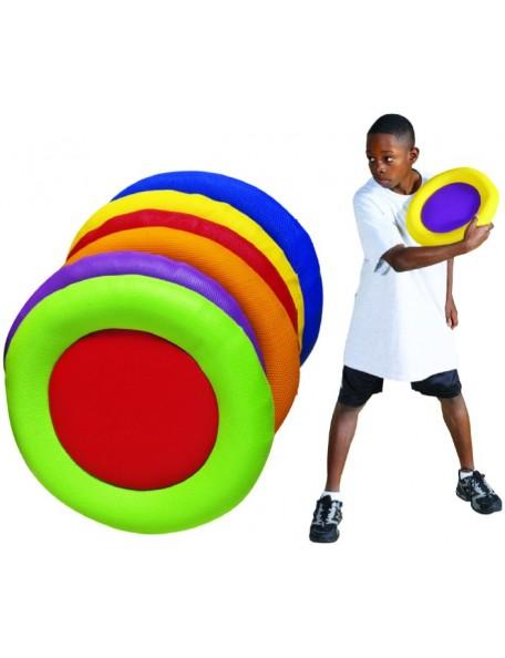 6 disques en mousse très sécurisés pour jeux d'enfants à l'école. Disques en mousse multicolores, mousse granulée