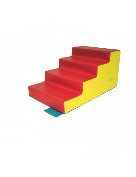 Escalier 4 marches Sarneige, module escalier 4 marches en mousse Sarneige maternelle.