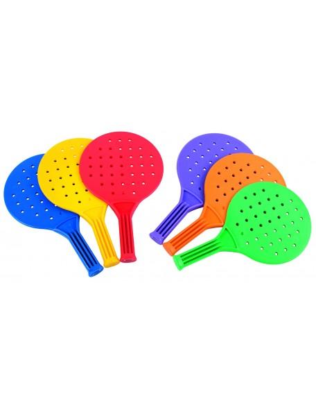 Lot de 6 raquettes multi-jeux scolaire pour enfants. Raquettes multicolores de padel pour enfants à acheter pas cher