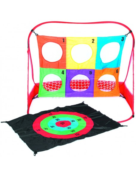 Cible 3 en 1 pour les jeux de lancer des enfants. Matériel de lot de 3 cibles avec structure facilement pliable