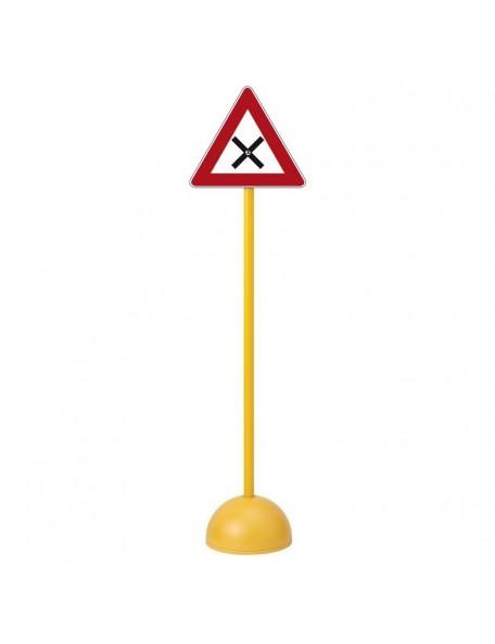 Panneau intersection pour l'apprentissage scolaire du code de la route