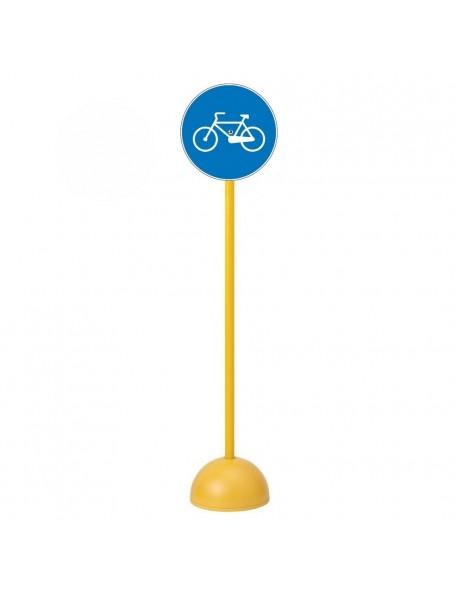 Panneau piste obligatoire pour les cycles