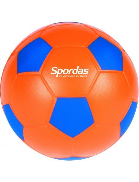 Ballon de foot en mousse Spordas diamètre 12 cm orange et bleu à acheter pas cher