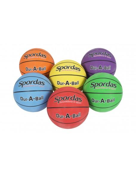 Lot de 6 ballons de basket-ball Spordas Dur-a-ball pour jeux sportifs scolaires des enfants