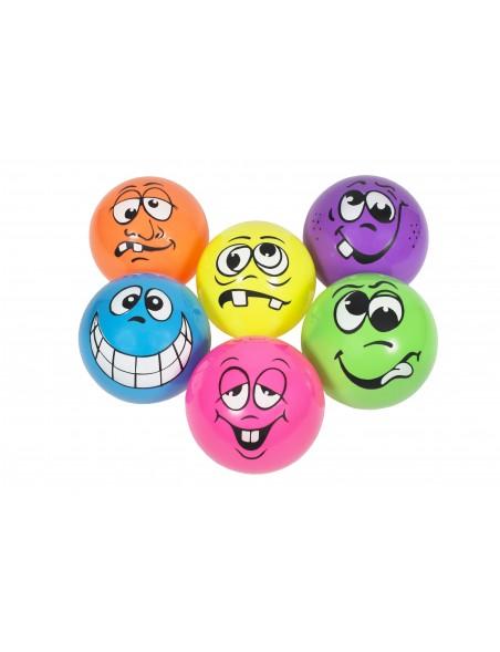 Lot de 6 ballons figuratifs 25 cm de Spordas, fabriqués en PVC, pour les jeux sportifs scolaires