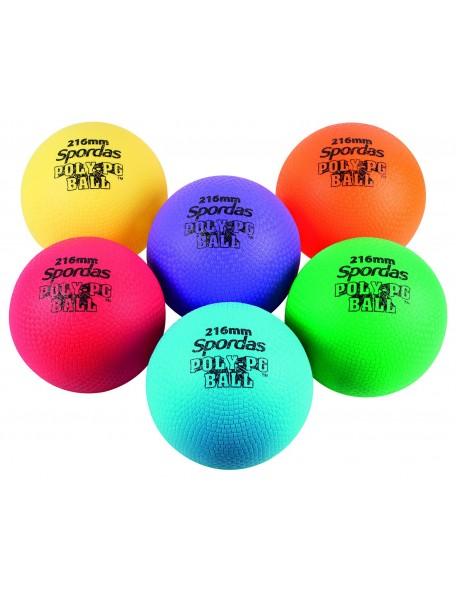 6 poly-ballons vinyle toutes surfaces Spordas pour jeux de ballons scolaires des enfants