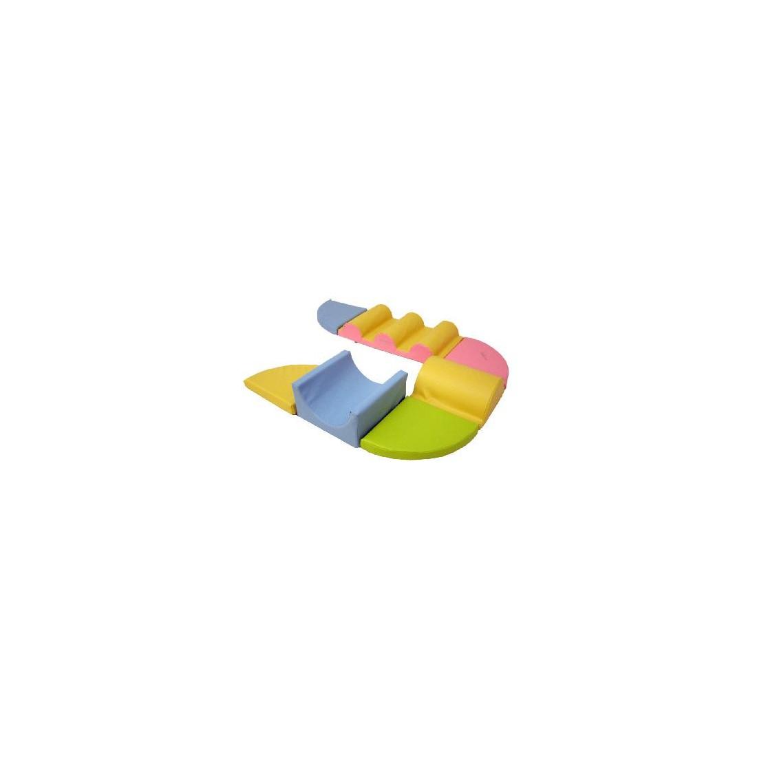 Kit équilibre Sarneige de motricité bébé. Kit ensemble de modules de motricité en mousse bébé Sarneige.