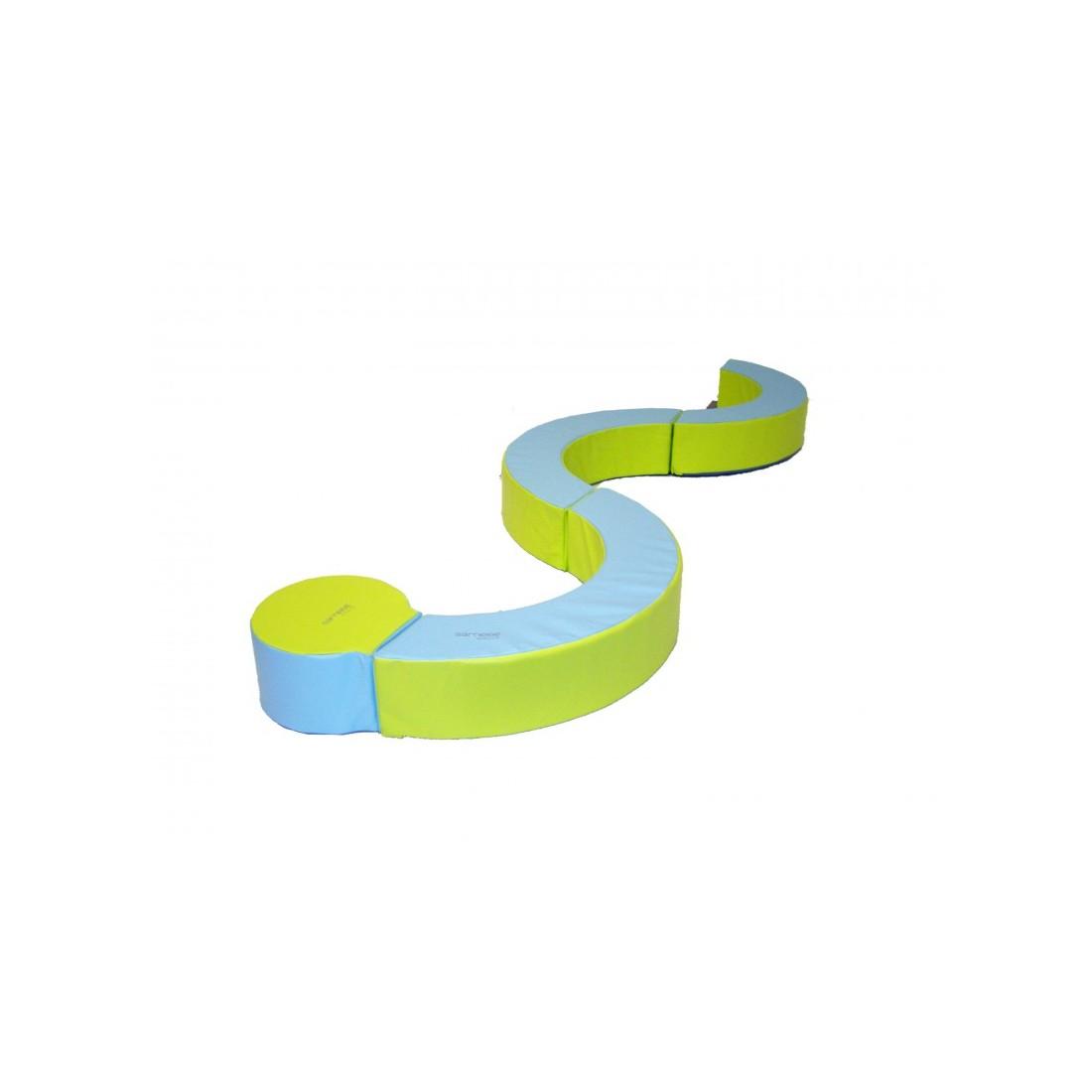Kit serpent mousse Sarneige de motricité. Ensemble de modules de motricité serpent de Sarneige.