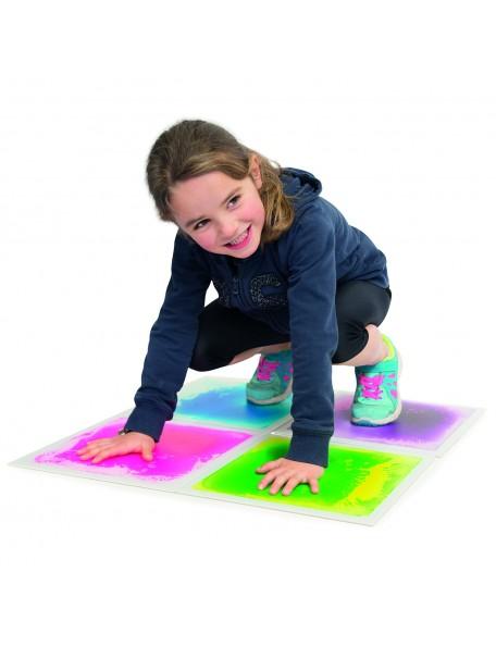 Lot de 4 dalles sensori-motrices multicolores pour les jeux de motricité en couleurs des enfants