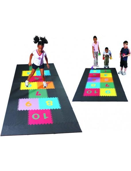 Tapis de jeu de marelle en mousse. Tapis de marelle multicolore en mousse sécurisé pour enfants