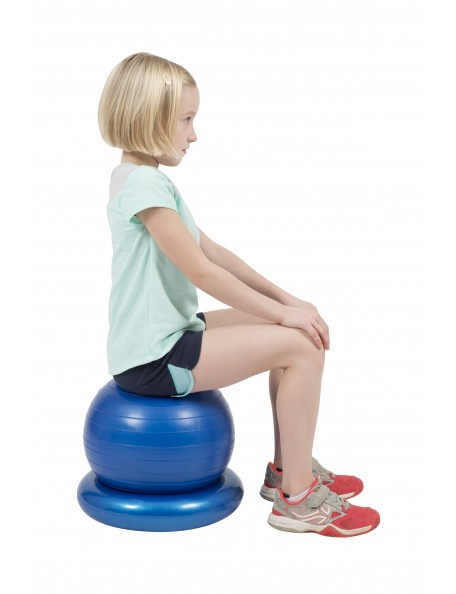 Ballon de fit-ball sécurisé pour enfants. Ballon d'équimibre sit n play Spordas
