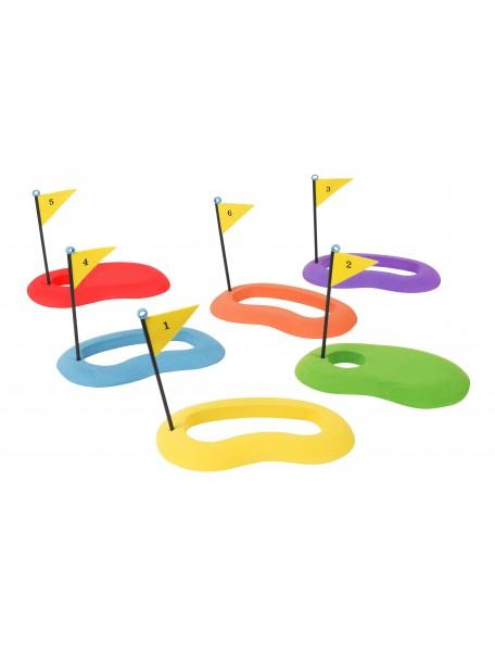 Lot de 6 cibles de golf Spordas en mousse pour jeux de golf enfants Cibles de jeu de golf enfants