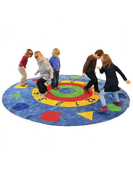 Tapis de jeux récréatifs rond pour enfants. Tapis géant rond avec nombres pour l'apprentissage des chiffres des enfants.