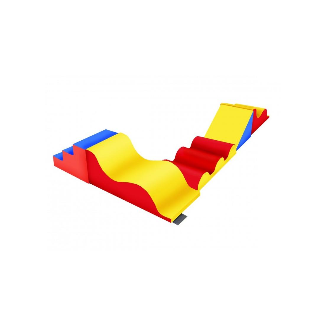 Kit ramper Sarneige de motricité. Modules en mousse maternelle de kit ramper fabriqué par Sarneige.