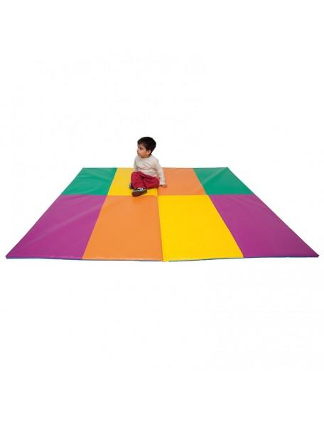 Tapis multicolore pliable en 2 - 1