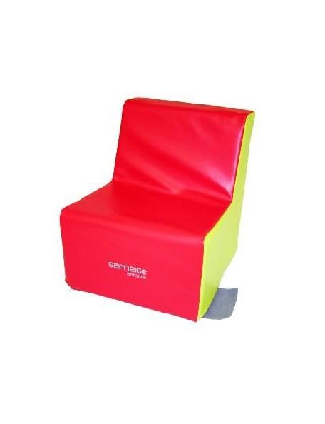 Fauteuil 1 place crèche Sarneige assise 25 cm pour les enfants. Mobilier en mousse fauteuil 1 place crèche 25 cm de Sarneige