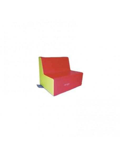 Banquette 2 places crèche Sarneige assise 25 cm pour les enfants. Mobilier en mousse banquette 2 places crèche 25 cm de Sarneige