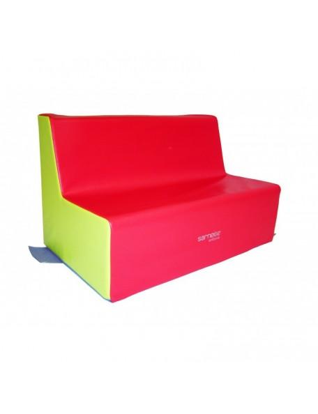 Banquette 3 places crèche Sarneige assise 25 cm pour les enfants. Mobilier en mousse banquette 3 places crèche 25 cm de Sarneige