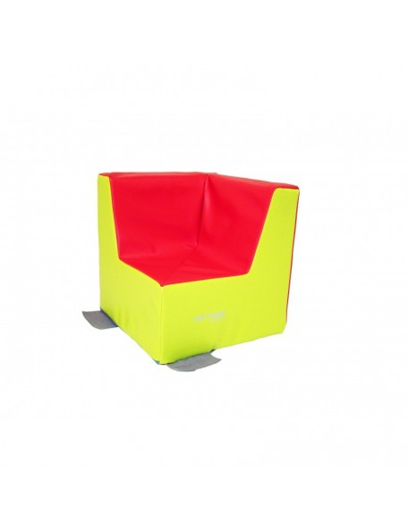 Fauteuil d'angle crèche Sarneige assise 25 cm pour les enfants. Mobilier en mousse fauteuil d'angle crèche 25 cm de Sarneige