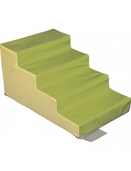 Module escalier 4 marches sans PVC sarneige pour enfants de maternelle. Module de motricité en mousse.