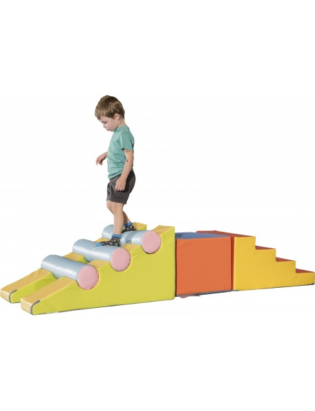 Kit grimper Sarneige materenelle pour parcours de motricité en mousse enfants en maternelle 3 à 6 ans