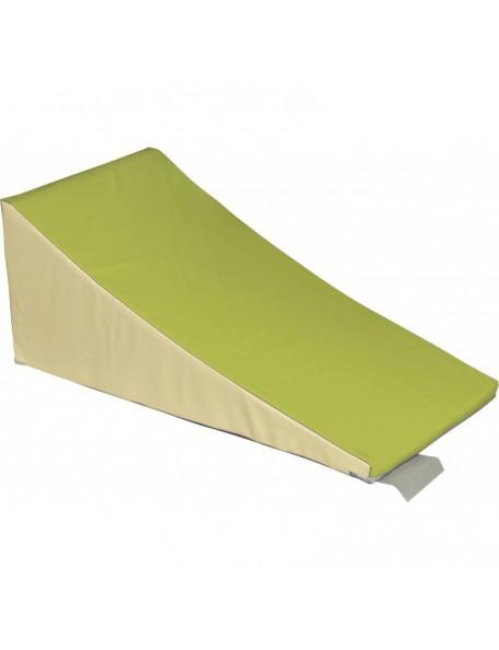 Toboggan maternelle en mousse de motricité Sarneige. Module dans PVC toboggan maternelle.