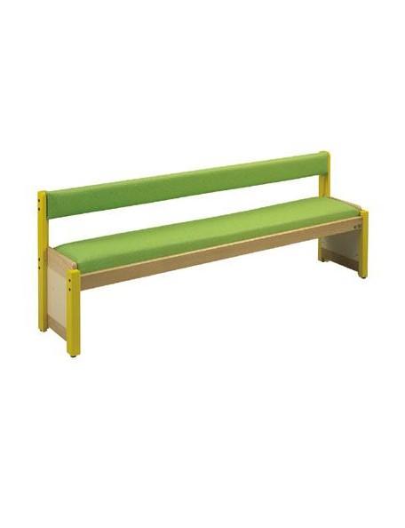 Banc avec dossier en bois pour les enfants en crèche ou à l'école maternelle