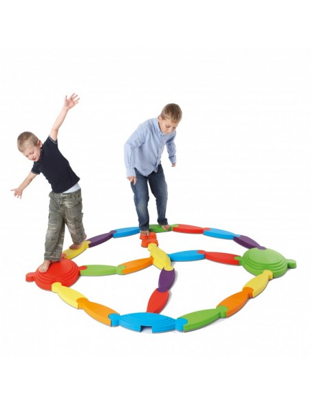 Set rivière pour l'équilibre des enfants avec 21 éléments en plastique
