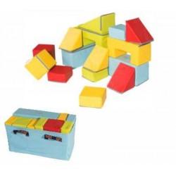 Jeu géant de construction en mousse Sarneige pour enfants 16 éléments