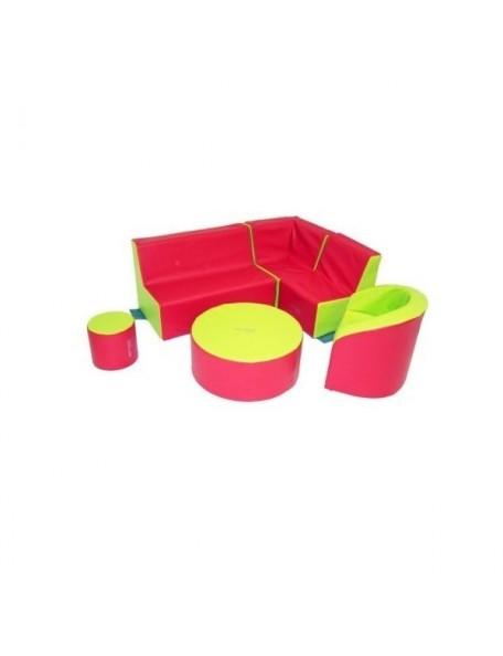 Ensemble mobilier en mousse 25 cm Sarneige pour enfants de 2 à 3 ans