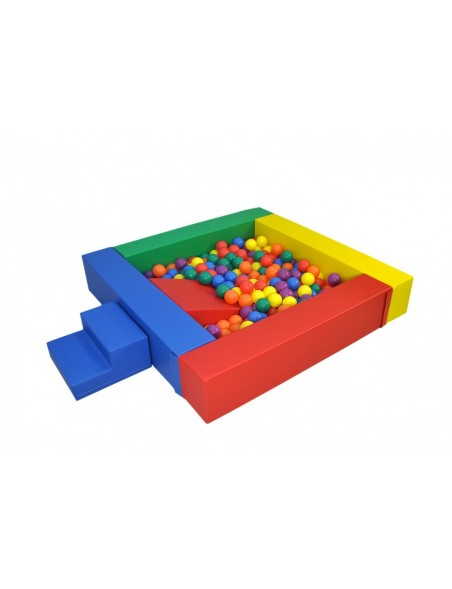 piscine balles en mousse pour enfants avec toboggan et pente