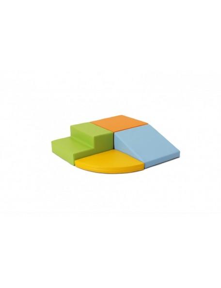 Kit motricité éco 4 modules pastel - 1