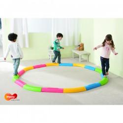 Parcours d'équilibre enfants avec 16 éléments Weplay de qualité et pas cher