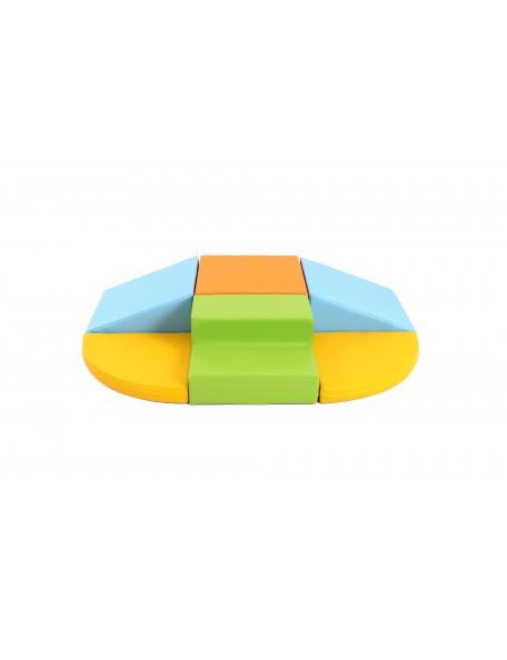 Kit motricité éco 6 modules pastel - 1