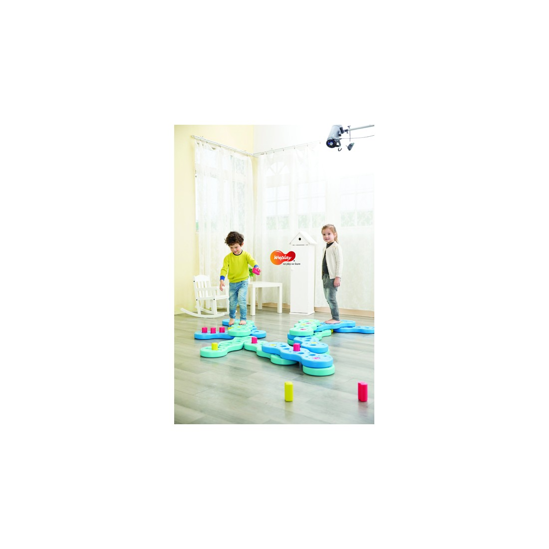 Rivière d'équilibre piégée pour la psychomotricité des enfants