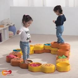 Les collines d'équilibre à remplir, parcours de motricité enfants