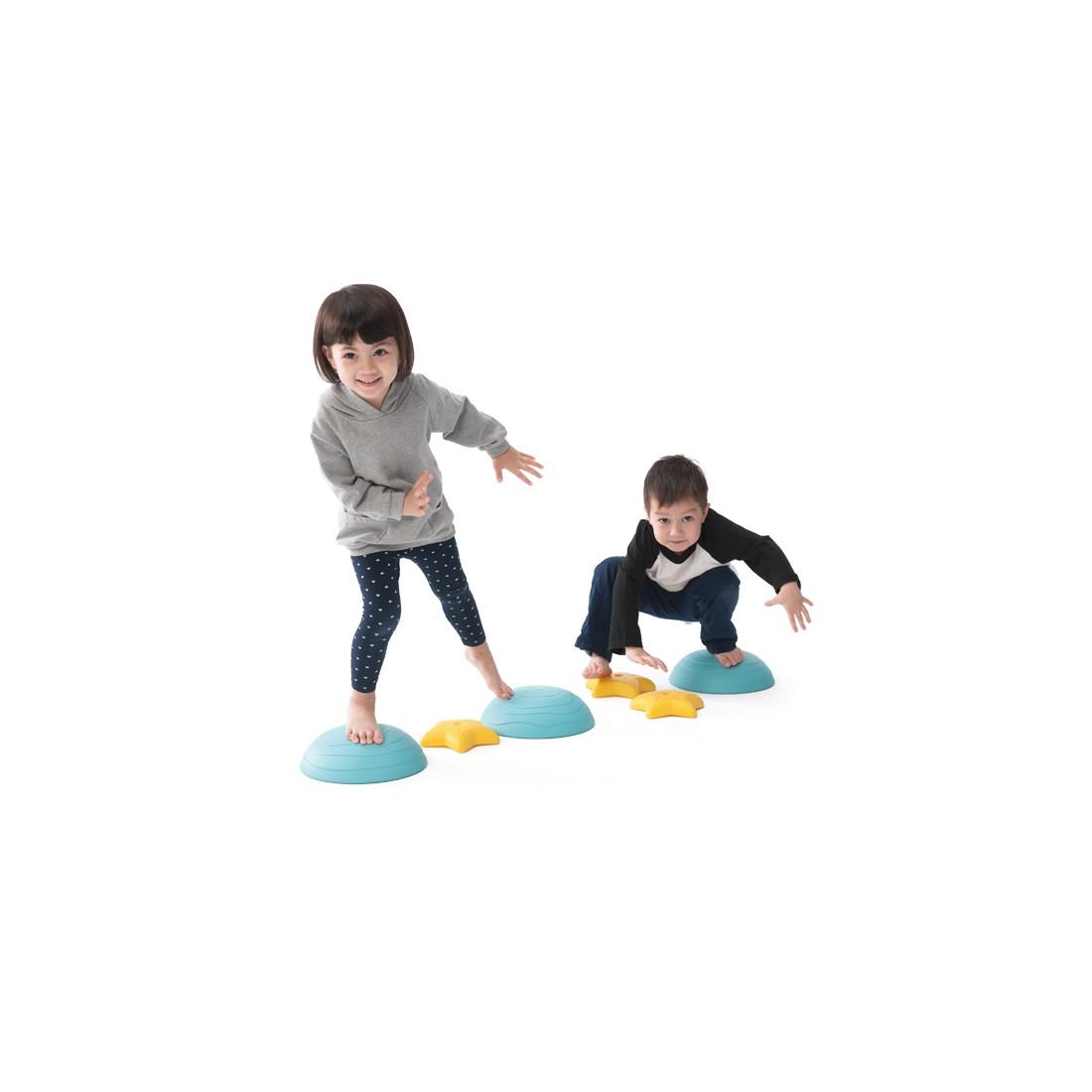 Les pierres scintillantes d'équilibre pour la psychomotricité des enfants