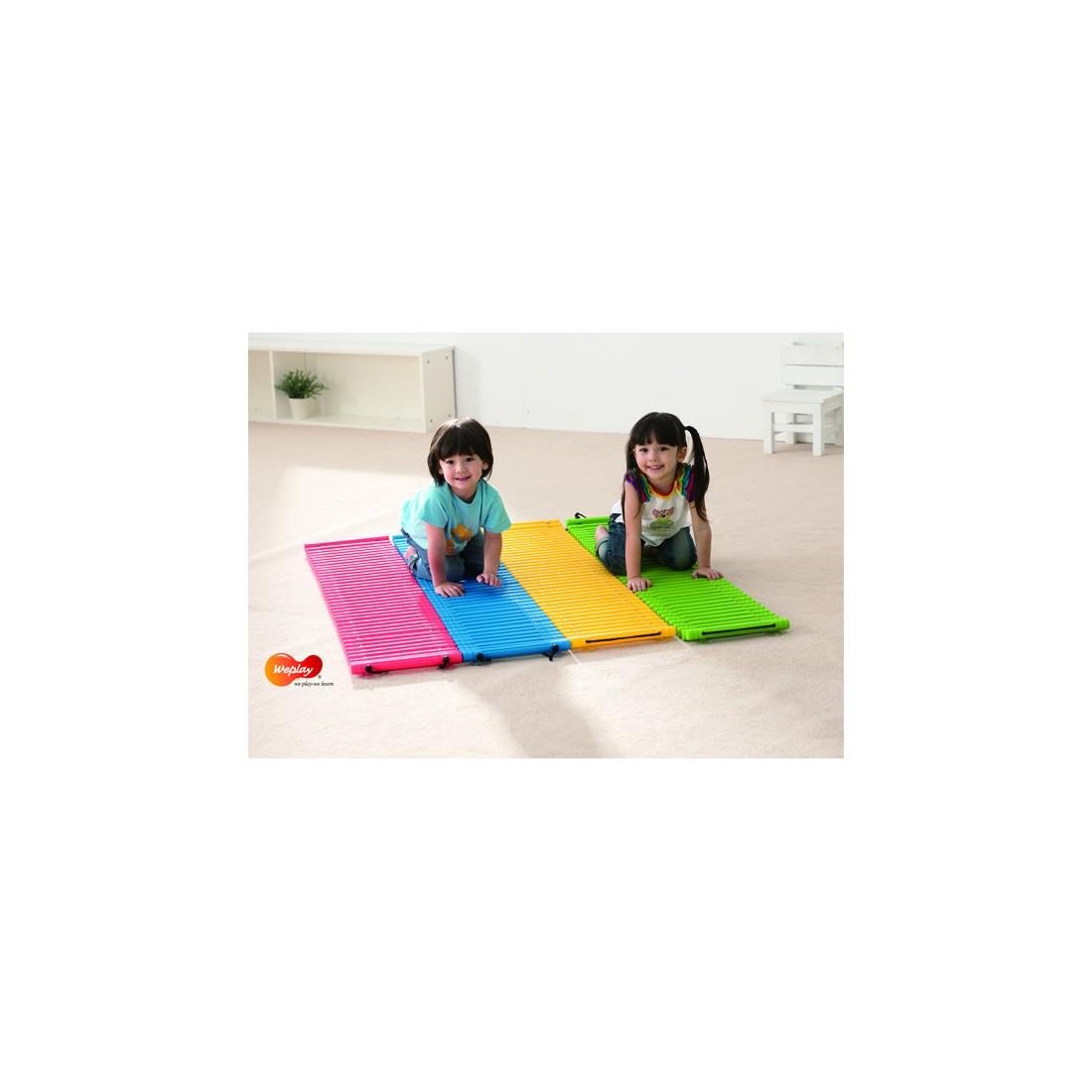 Tapis tactiles d'équilibre pour parcours psychomoteur des enfants
