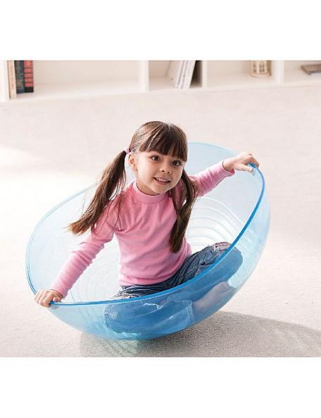 Bol géant d'équilibre transparent pour les jeux de psychomotricité des enfants