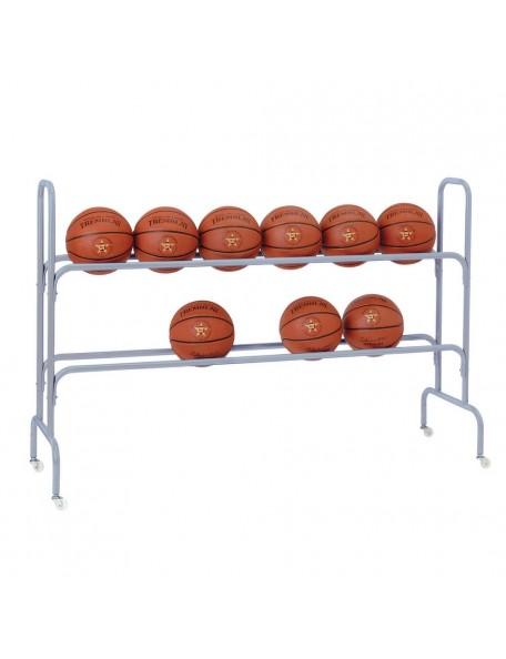 Rack à ballons de basket-ball long - 1