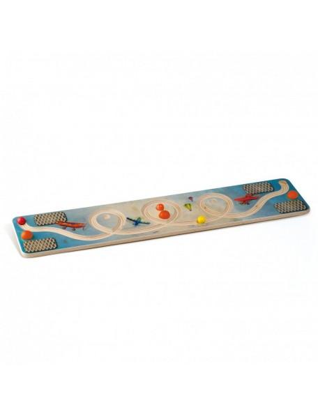 Planche d'équilibre looping en bois - 1